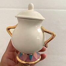 Belle et la bête sucrier Pot Geniune céramique