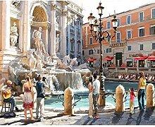 Belle fontaine romaine Mur moderne de peinture
