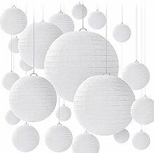 BENECREAT 28PCS 4 Tailles lanternes en Papier