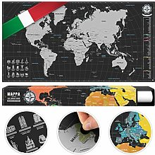 #benehacks Carte du Monde à gratter Poster Mural