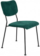 BENSON - Chaise de salle à manger velours vert