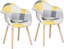 BenyLed Lot de 2 chaises de salle à manger avec