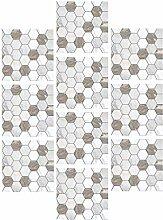BESPORTBLE 10 Pcs Mosaïque Tuile Peel and Stick