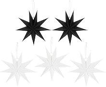 BESPORTBLE 5Pcs Papier Étoiles Lanterne Suspendus