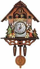 BESPORTBLE Horloge à coucou traditionnelle Forêt