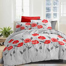 Best Interior - Parure de draps Poppies - 140x190cm