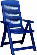 BEST Santiago Fauteuil de Jardin Pliant Bleu
