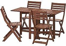 BestOnlineDeals01 ÄPPLARÖ Table + 4 chaises