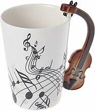 BESTONZON Notes de musique Design Mug Guitare
