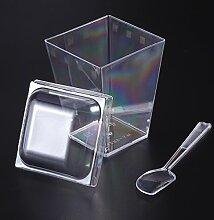 BESTonZON Pot de Dessert Plastique Bol en Forme de