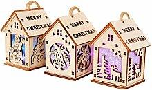 BESTOYARD 3pcs Décoration de Noël Mini Maison en