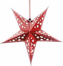 BESTOYARD 45cm Papier étoile Lanterne 3D