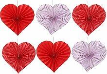 BESTOYARD 6pcs Mariage Papier de Soie Fleurs Pom
