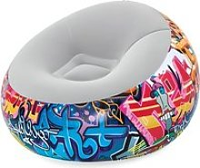 BESTWAY Fauteuil gonflable rond Graffiti