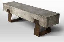 BETON - Banc beton et acier rouille