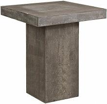 BETON - Table haute carrée