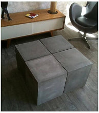 BETON - Table modulable beton