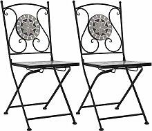 Betterlife - Chaises de bistrot mosaïque 2 pcs