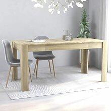 Betterlife - Table de salle à manger Chêne
