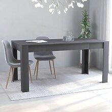 Betterlife - Table de salle à manger Gris 160 x