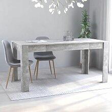 Betterlife - Table de salle à manger Gris béton