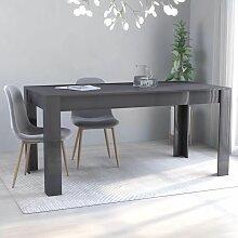 Betterlife - Table de salle à manger Gris