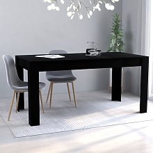 Betterlife - Table de salle à manger Noir 160 x