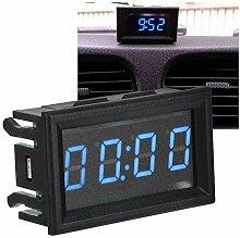 Betued Horloge de Voiture de LED, Horloge de