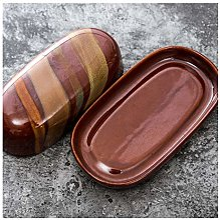 Beurriers Boîte au beurre de céramique, plaque