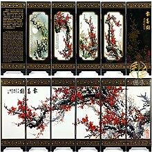 BEYOHIR Art Chinois Traditionnel à 6 Panneaux