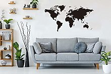 BeyondTreasure Sticker mural Motif carte du monde