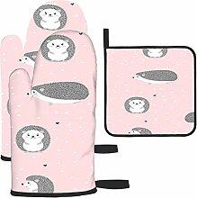 Bgejkos Les gants de cuisine et maniques à motif