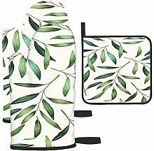 Bgejkos Les gants de cuisine et maniques Green