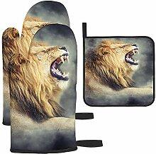 Bgejkos Les gants de cuisine et maniques Lion In