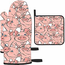 Bgejkos Maniques avec motif cochons roses