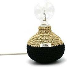 BI HOOK-Lampe à poser Textile tricoté H18cm noir