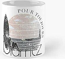Biarritz France Sunrise Surf At The Lighthouse