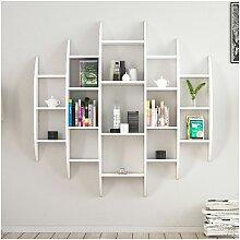 Bibliotheque Alvino etagere, armoire murale - avec