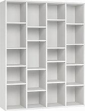 Bibliothèque design en bois blanc RYTHM