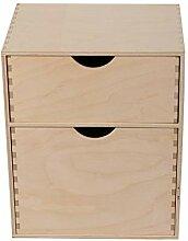 Bibliothèque en bois avec 2 tiroirs - Commode