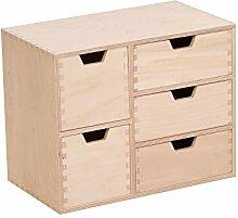Bibliothèque en bois avec 5 tiroirs - Commode