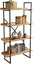 Bibliothèque étagère industrielle bois et