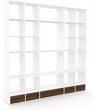 Bibliothèque murale - Blanc, design flexible,
