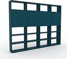 Bibliothèque murale - Bleu pétrole, modèle