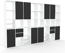 Bibliothèque murale - Graphite, combinable,