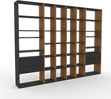 Bibliothèque murale - Graphite, design flexible,
