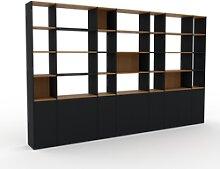 Bibliothèque murale - Noir, modèle moderne,