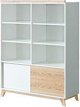 Bibliothèque Nordik largeur 120cm - Blanc