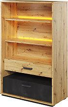 Bibliothèque Qubic avec éclairage LED - Chêne