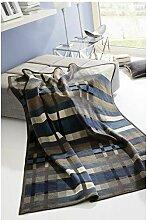 Biederlack Couverture/couvre-lit 150 x 200 cm Bleu